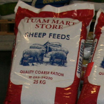 Animal feed at Tuam Mart Store