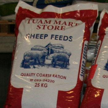 Animal feed at Tuam Mart Store